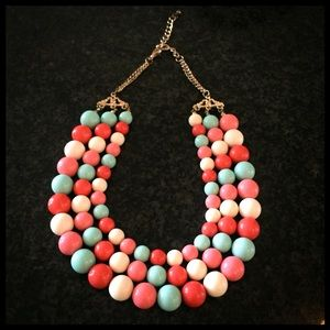 Jewelry - MOVING SALE!! 3-Strand Multi-color Bead Necklace